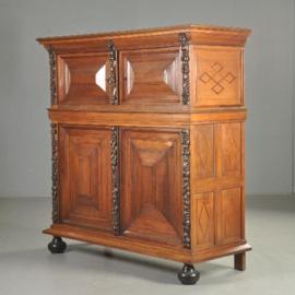 Antieke kasten / Zeeuwe 4-deurskast in  palissander ca. 1690 met gestoken stijlen (No.521321)