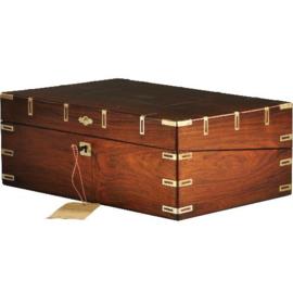 Antiek varia / Antieke campaignbox / Reiskst of schrijfkist met Schrijfvlak en (scheer)spiegeltje ca. 1815 (No.998760)