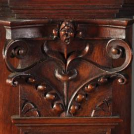 """Antieke kasten / Notenhouten barmeubel """" Pretivm Intvs"""" jaren '30 met veel details (No.155125)"""