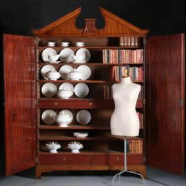 Antieke kasten / Hollands tweedeurs prenten kabinet / boekenkast ca. 1790 Neoclassicisme (No.571031)