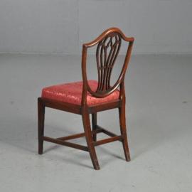 Antieke stoelen / Stel van 12 comfortabel beklede 19e eeuwse Engelse stoelen (No.521522)