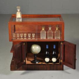 Antieke kasten / Art deco theekastje / drankenkastje ca. 1920 Hollands in mahonie met palissander (451946