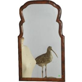 Antieke spiegels / Schouwspiegels / Hollandse soester spiegel ca. 1900 in notenhout (No. 521405)