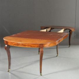 Antieke tafels / Ovale Charles X  Coulissentafel ca. 1820 met twee bladen 2,25m.  - groter kan ook (No.532118)