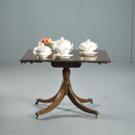 Antieke tafels / Tripple pedestal D-end table ca. 1880,  max. 14 personen mahonie (No.412514)*