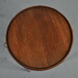 Antieke bijzettafels / Wijntafels / Ronde eikenhouten bijzettafel  ca. 1890 met 2 uittrekblaadjes (No.522359)