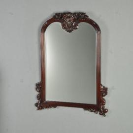 Antieke spiegels / Engelse schouwspiegel ca. 1875 met uitzonderlijk fraai geslepen glas (No.321813)*
