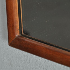 Antieke spiegels / brede soester spiegel ca. 1900 met prachtig geschulpte kop  (No.272161)