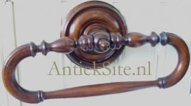 Antieke handdoekhouder mahonie ca. 1870(Item No. 0098108)