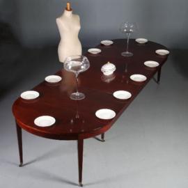 Antieke tafels / Hollandse coulissentafel in mahonie ca. 1800 voor 12/14 personen (No.571511)