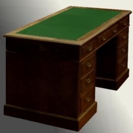 Antiek bureaus / Engels mahonie bureau met inleg naar keus (No.78267)