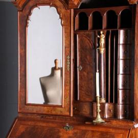 Antieke kasten / Schrijfkabinet / Spiegelkabinet ca. 1725 met zeer rijk interieur en geheime vakken (No.622423)