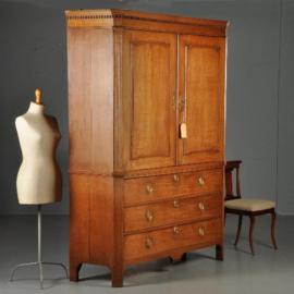 Antieke kasten / Blond eikenhouten Hollands Louis Seize kabinet ca. 1790 (No.450215)