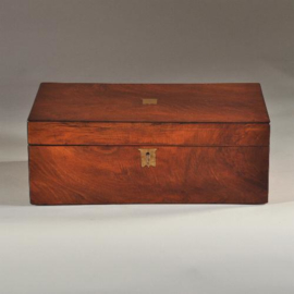 Antiek varia / Antieke campaign / writingbox of Schrijfkist zwart leer ca. 1825 (No-998761)