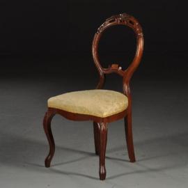 Antieke stoelen / Stel van 4 elegante Zweedse eetkamerstoelen ca. 1870   (No.450218)