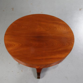 Antieke tafels / Kleine eetkamertafel / grote bijzettafel 110 cm rond Empire stijl ca. 1915 (No.562219)
