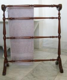 Antiek handdoekenrek mahonie ca. 1870 (No9995)