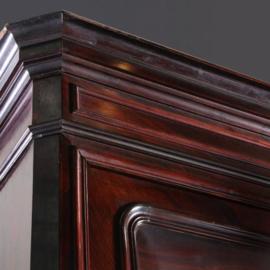Antieke kasten / Zeer hoge Bibliotheekkast in palissander ca. 1860 met 2 uittrekbladen (No.571038)