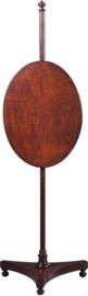 Antiek varia / Engels mahonie pole screen ca. 1825 in hoogte verstelbaar (No882901)