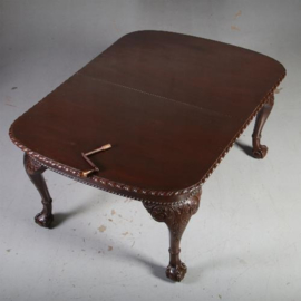Antieke kasten / Engelse wind-out table ca. 1875 met slinger en 3 authentieke bladen (No.592941)