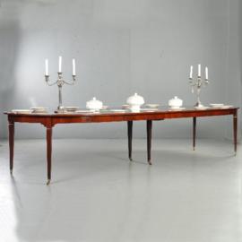 Antieke tafels / Hollandse Louis Seize coulissentafel ca. 1810 tot wel 3,72 lengte  (No.331562)