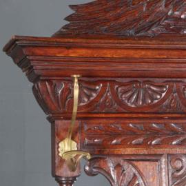 Antiek varia / Porte manteau staande kapstok Engels ca. 1860 rijk gestoken met zitkist, paraplu-standaards en haken (No.500663)