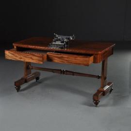Antieke bureaus /  schrijftafel / Sidetable in mahonie met 2 laden ca. 1825 (No.530936)