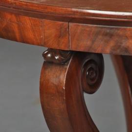 Antieke tafels / Ronde Hollandse mahonie tafel ca. 1820  (No.460246)