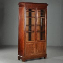Antieke kasten / Boekenkast / Servieskast Frankrijk ca. 1860 mahonie (No.470746)