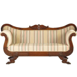 Antieke banken / De iconische  Hollandse Biedermeier sofa ca. 1825 in mahonie (No.221159)