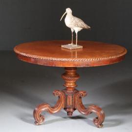 Antieke bijzettafels / Eetkamertafel / Ronde tafel biedermeier ca. 1830 (No.580625)
