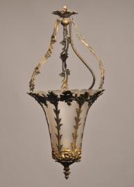 Antiek Varia / Grote bronzen hallamp / hanglamp aan de onderzijde te openen voor het... (4740EFI48)
