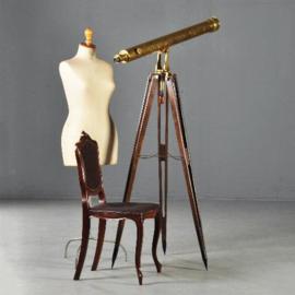 """Antiek Varia / Verrekijker op statief """"Buron Paris"""" 19e eeuw  (No-182956)"""