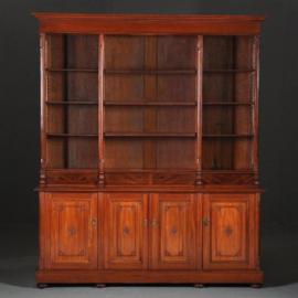 Antieke kasten / Hollande deels open boekenkast / servieskast ca. 1890 in mahonie (No.401747)