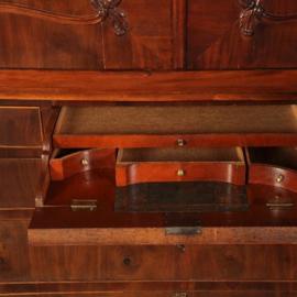 Antieke kasten / Kabinet transition ca. 1790 met bureautje mahonie (No.502858)