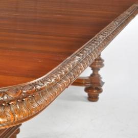 Antiek tafels / Schitterend gerestaureerde antieke Franse coulissentafel ca. 1875 tot 3.14 m. lengte (No639963)