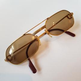 Antiek Varia / 80'er jaren  Zonnebril Cartier Paris 50-20 verguld compleet met doos en etui ca. 1980 (No.123298)