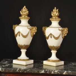 Antiek varia / Stel schouwstukken met afneembare ornamenten ca. 1875 (No. 511860)