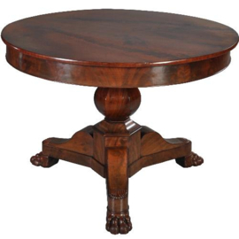 Antieke tafels / Kleine ronde tafel  Hollands ca. 1820 mahonie (No.410413)