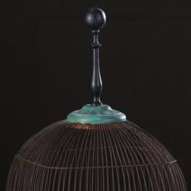 Antiek Varia / Decoratieve Franse vogelkooi in blauw met zwart ca. 1910 (TN551601)