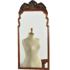 Antieke spiegels / Soester schouwspiegel ca. 1910 met bijzonder fraaie afneembare  gestoken kroon (No.2721665)