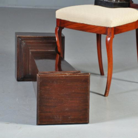 Antieke bijzettafels / Vierkante mahoniehouten zuil of sokkel ca. 1880 Engeland  (No.422054)