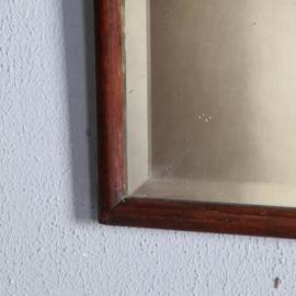 Antieke spiegels / Soester spiegel met afneembare kroon ca. 1820 notenhout (No.582621)
