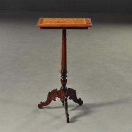 Antieke bijzettafels / wijntafel / Rechthoekige fraai ingelegde wijntafel ca 1880.  (No.180407)