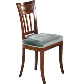 Antieke stoelen / 6 Hollandse  mahonie stoelen ca. 1850 met sabelpoten incl bekleding naar wens (No. 472847)