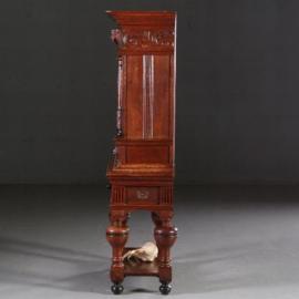 Antieke kasten / Hollands tafelkastje / Hollands tafelkastje / Rariteitenkabinetje ca. 1875  eiken met zwarte accenten (No.640852)