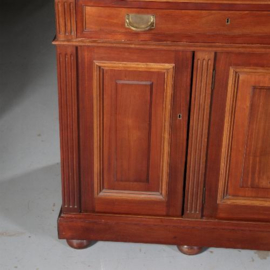 Antieke kasten / Hollandse notenhouten bibliotheekkast / verzamelaarskabinet ca. 1880 - 6 deuren 14 laden (No.572238)