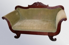 Antieke banken /  sofa in mahonie, biedermeier sofa ca. 1840 (No10421)