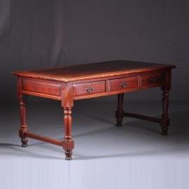 Antieke tafels/ werktafel / schrijftafel china 1875 met 6 laden doorleefde kleur (No-8822908)