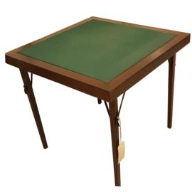 Antieke bijzettafels /Opklapbare kaarttafel of speeltafel gestempeld THONET met instructiefoto en verkopersplaatje mahonie (No.252051))
